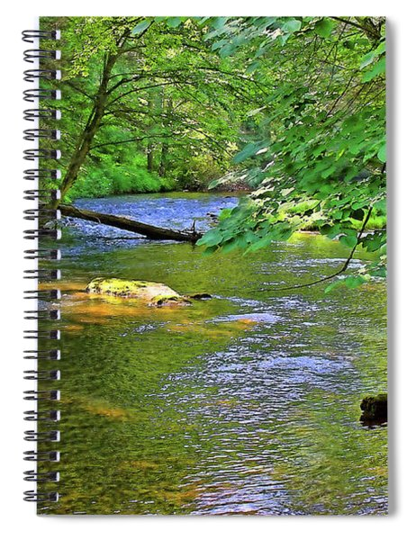 Along The Cullasaja River Spiral Notebook