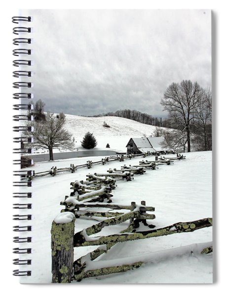 Along The Locust Rails In Winter Spiral Notebook