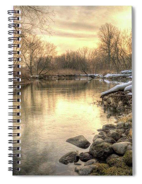 Spiral Notebook featuring the photograph Along The Thames River Signed by Garvin Hunter