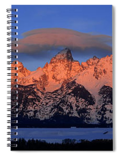 Alpenglow Tetons 2 Spiral Notebook