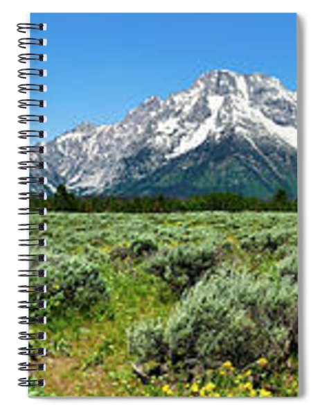 Alpine Meadow Teton Panorama Spiral Notebook