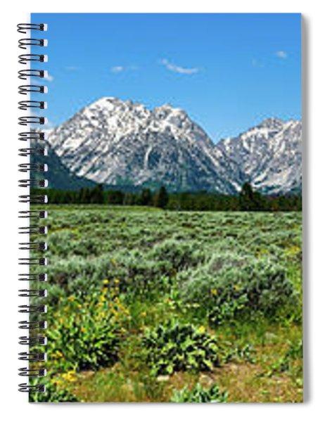 Alpine Meadow Teton Panorama II Spiral Notebook