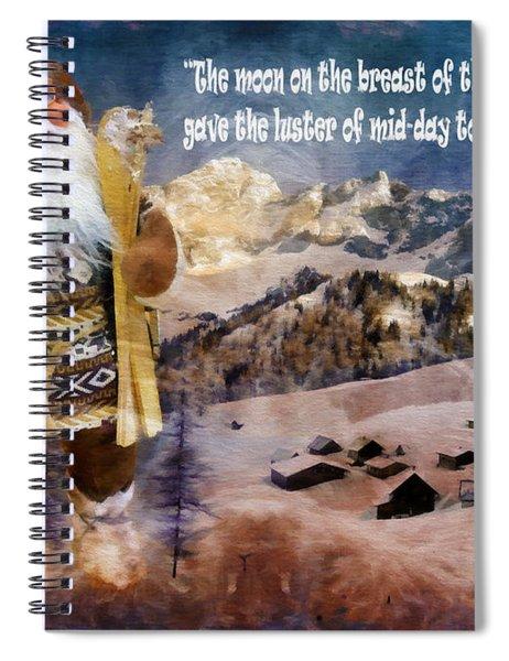 Alpine Santa Card 2015 Spiral Notebook