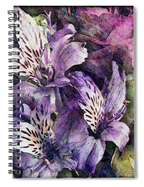 Alstroemeria Spiral Notebook
