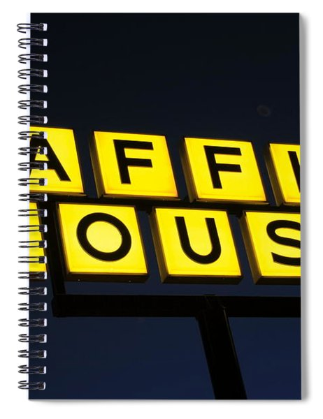 Always Open Waffle House Classic Signage Art  Spiral Notebook