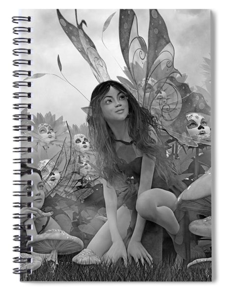 Always Watching Over You Bw Spiral Notebook