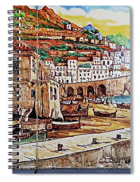 Amalfi Street Art Spiral Notebook