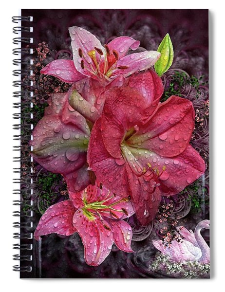 Amaryllis Dew Spiral Notebook