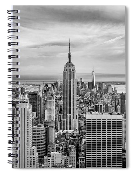 Amazing Manhattan Bw Spiral Notebook