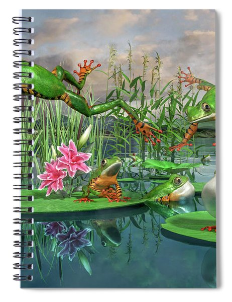 Amazon Frogs Welcoming Spring Spiral Notebook