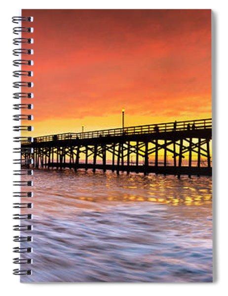 Amber Seal Beach Pier Spiral Notebook