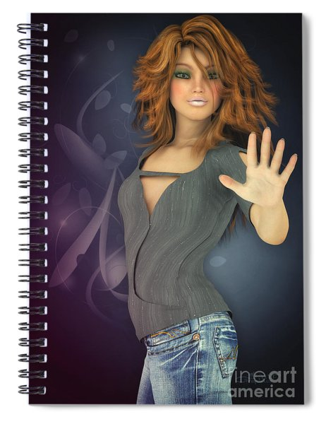 Amelie In Jeans Spiral Notebook