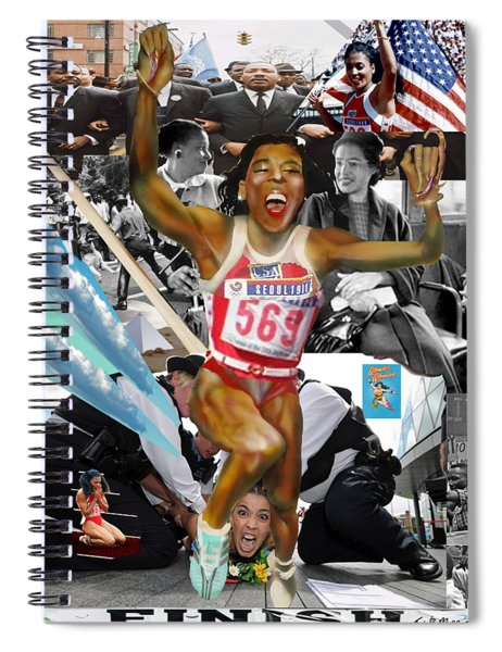 America On Her Back Spiral Notebook