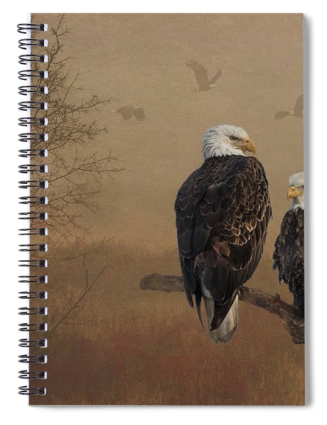 American Bald Eagle Family Spiral Notebook