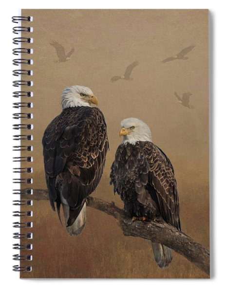Spiral Notebook featuring the photograph American Bald Eagle Family by Patti Deters