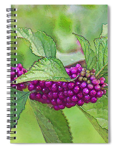 American Beautyberry Spiral Notebook