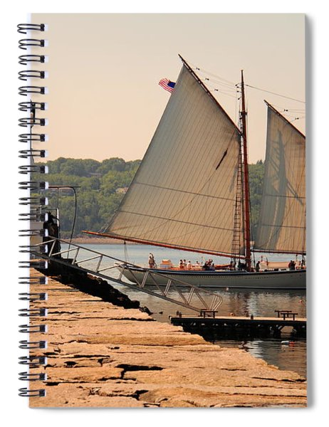 American Eagle At The Lighthouse Spiral Notebook