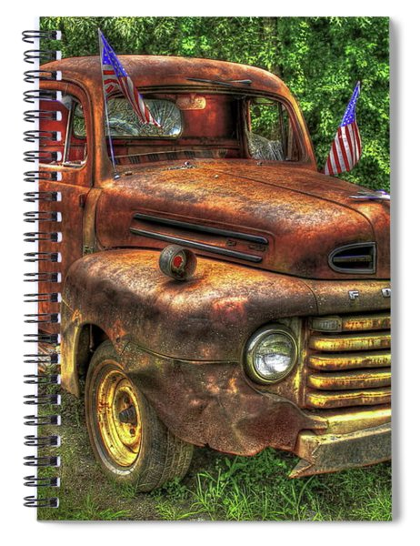 American Ford 1950 F-1 Ford Pickup Truck Art Spiral Notebook