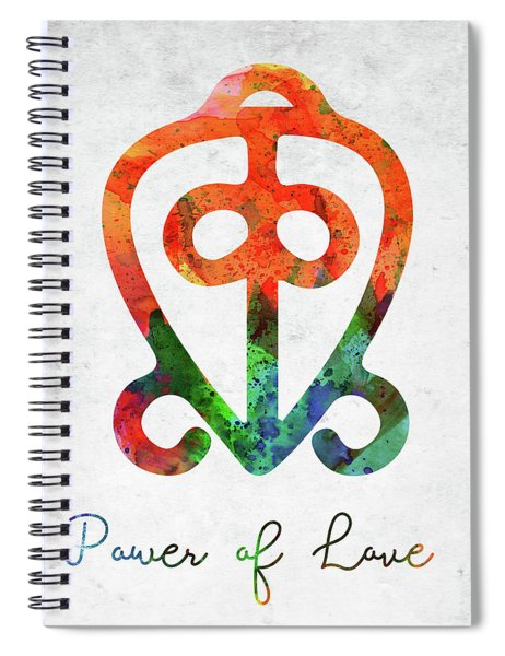 American Indian Symbol - Power Of Love Spiral Notebook