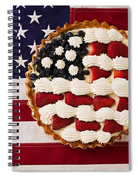 American Pie On American Flag  Spiral Notebook