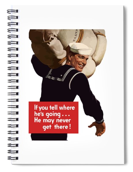 American Sailor -- Ww2 Propaganda Spiral Notebook