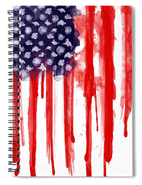 American Spatter Flag Spiral Notebook