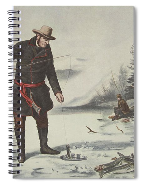 American Winter Sports  Trout Fishing On Chateaugay Lake Spiral Notebook