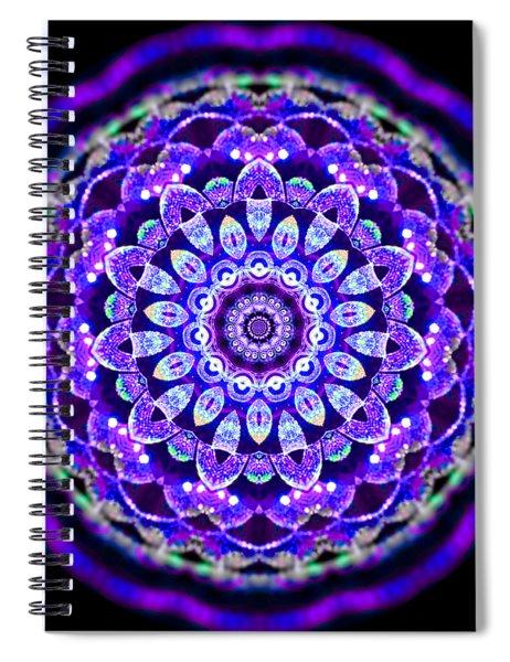 Spiral Notebook featuring the digital art Ammersee Cropcircle Lightmandala Morph by Robert Thalmeier