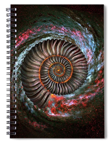 Ammonite Galaxy Spiral Notebook
