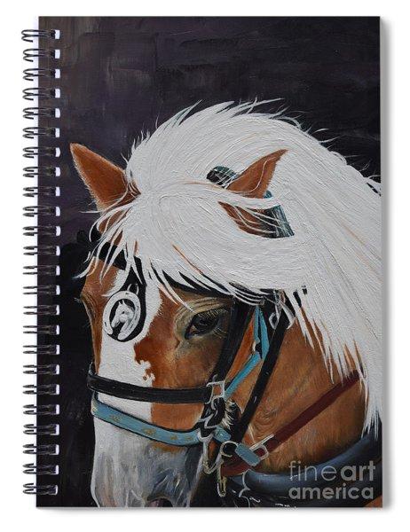 Amos - Haflinger - Horse Spiral Notebook