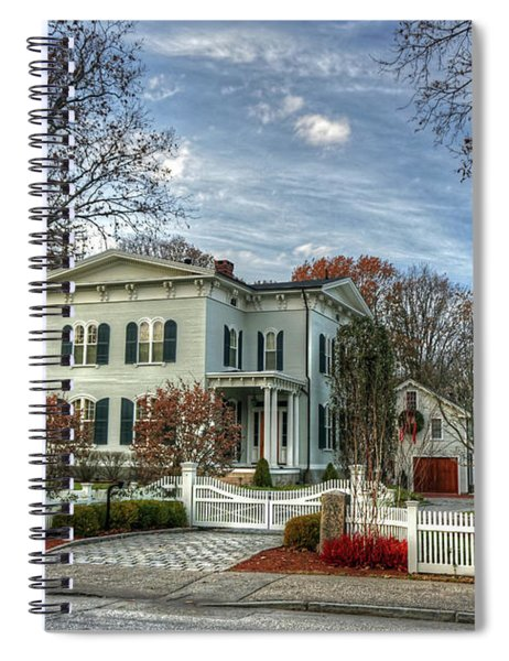 Amos Tuck House In Late Autumn Spiral Notebook