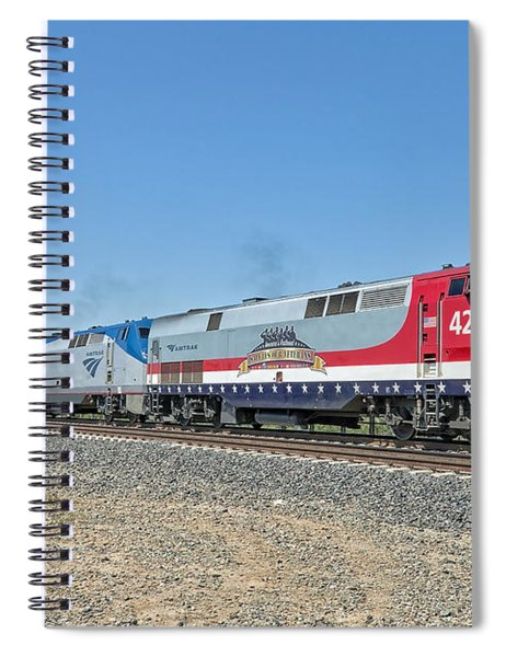 Spiral Notebook featuring the photograph Amtrak 42  Veteran's Special by Jim Thompson