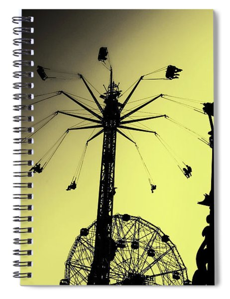 Amusements In Silhouette Spiral Notebook