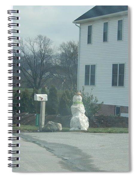An Amish Snowman Spiral Notebook