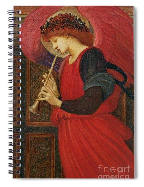 An Angel Playing A Flageolet Spiral Notebook