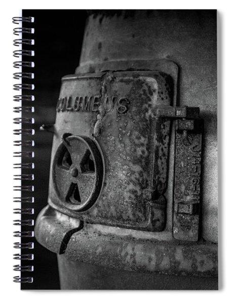 Spiral Notebook featuring the photograph An Antique Stove by Doug Camara