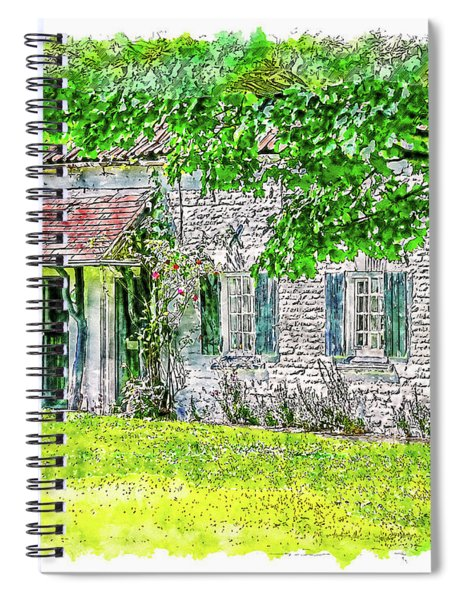 An English Cottage Spiral Notebook