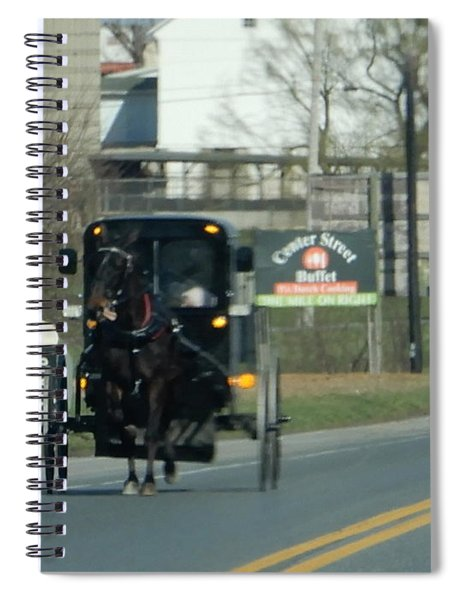 An Evening Ride Spiral Notebook