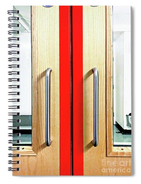 An Interior Door Spiral Notebook
