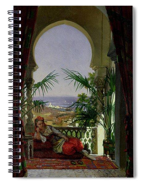 An Odalisque On A Terrace Spiral Notebook