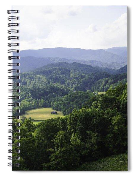An Old Shack Hidden Away In The Blue Ridge Mountains Spiral Notebook