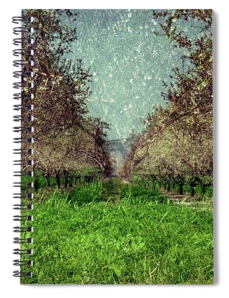 An Orchard In Blossom In The Eila Valley Spiral Notebook