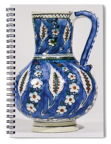 An Ottoman Iznik Style Floral Design Pottery Polychrome, By Adam Asar, No 19 Spiral Notebook