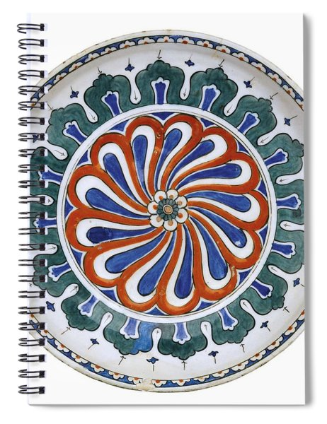 An Ottoman Iznik Style Floral Design Pottery Polychrome, By Adam Asar, No 20 Spiral Notebook
