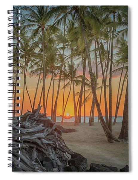 Anaehoomalu Beach Sunset Spiral Notebook
