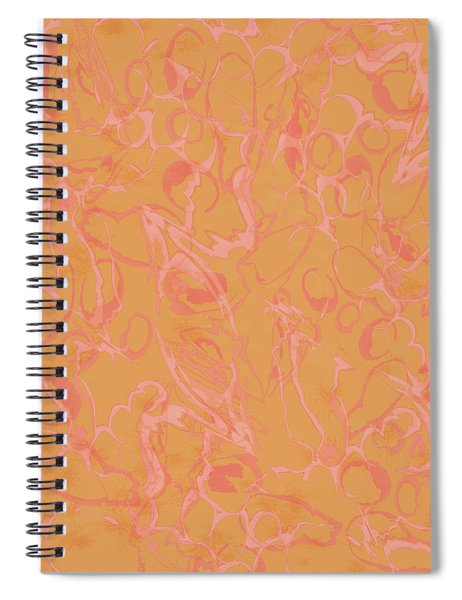 Analogous Dribble Painting Spiral Notebook