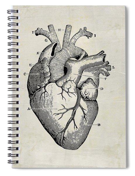 Anatomical Heart Medical Art Spiral Notebook