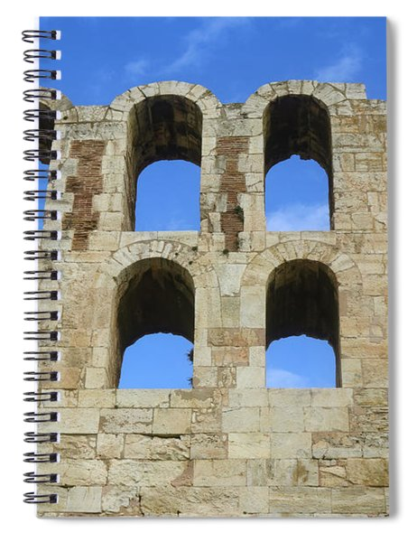 Ancient Arches Of The Roman Theater On The Acropolis In Athens Greece Spiral Notebook