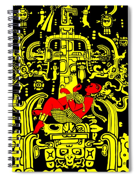 Ancient Astronaut Yellow And Red Version Spiral Notebook