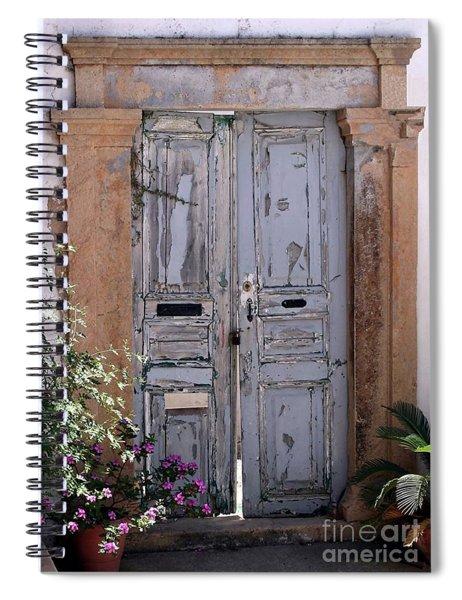 Ancient Garden Doors In Greece Spiral Notebook